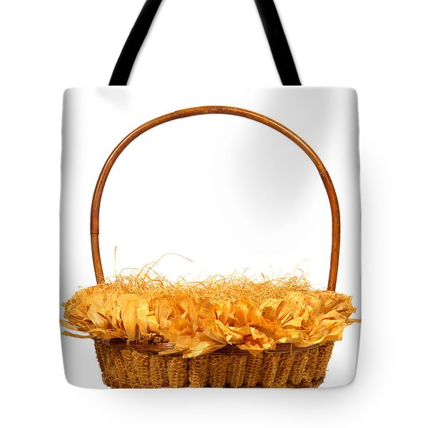 Wicker Basket Number Three Tote Bag