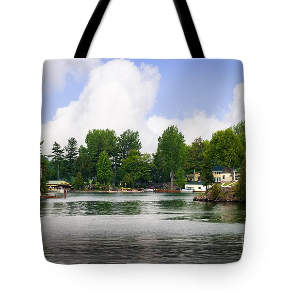 1000 Islands Homes Tote Bag