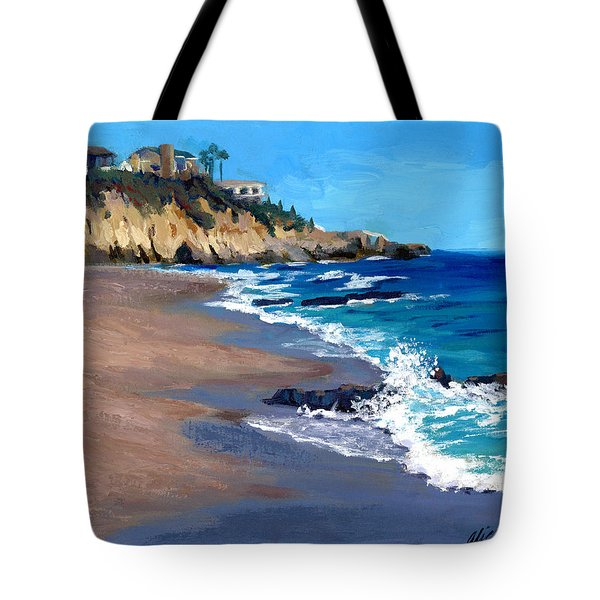 1000 Steps Beach In Laguna Beach California Tote Bag by Alice Leggett