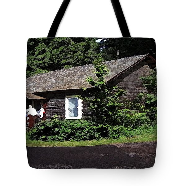 10004600133 Lake Mcdonald Outer Cabins Tote Bag