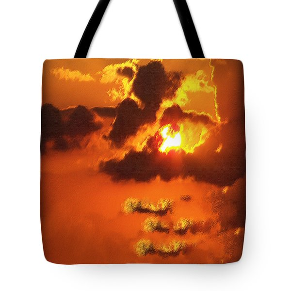 1002206 Louisiana Sun Set Tote Bag