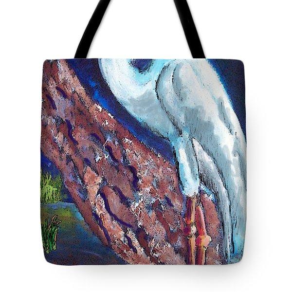 1004397egret Tote Bag