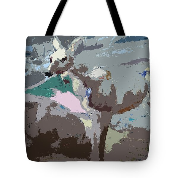 100814 Doe In Red Woods California Tote Bag