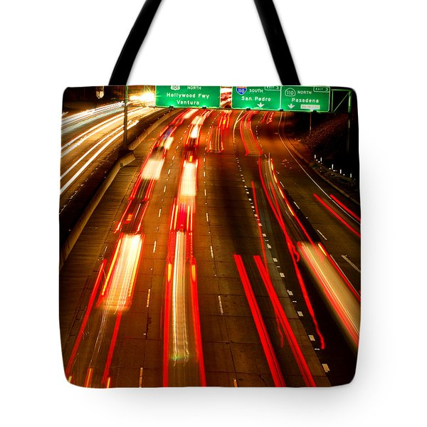 Tote Bag featuring the photograph 101 At Night by Matt Harang