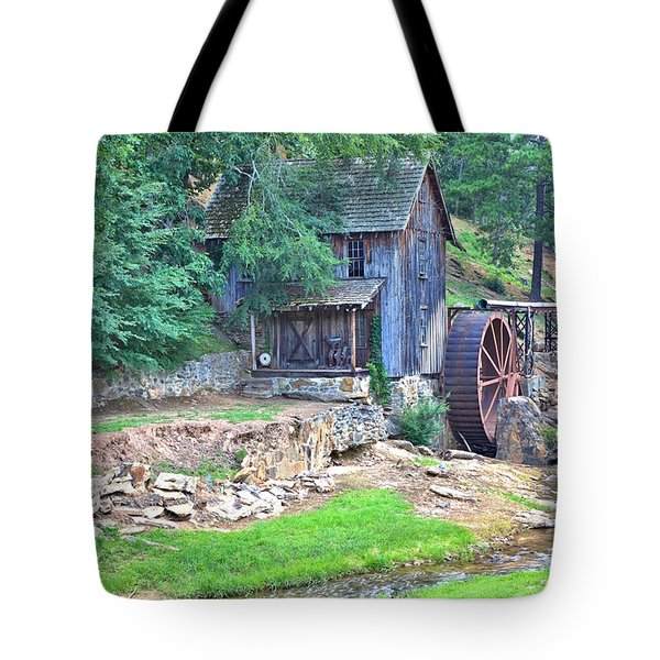 Sixes Mill On Dukes Creek Tote Bag by Gordon Elwell