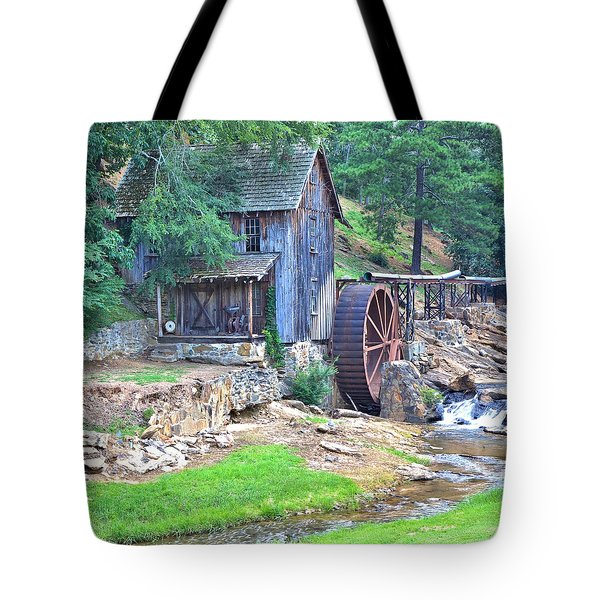 Sixes Mill On Dukes Creek - Square Tote Bag