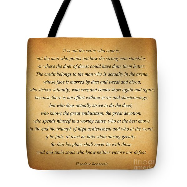 104- Theodore Roosevelt Tote Bag