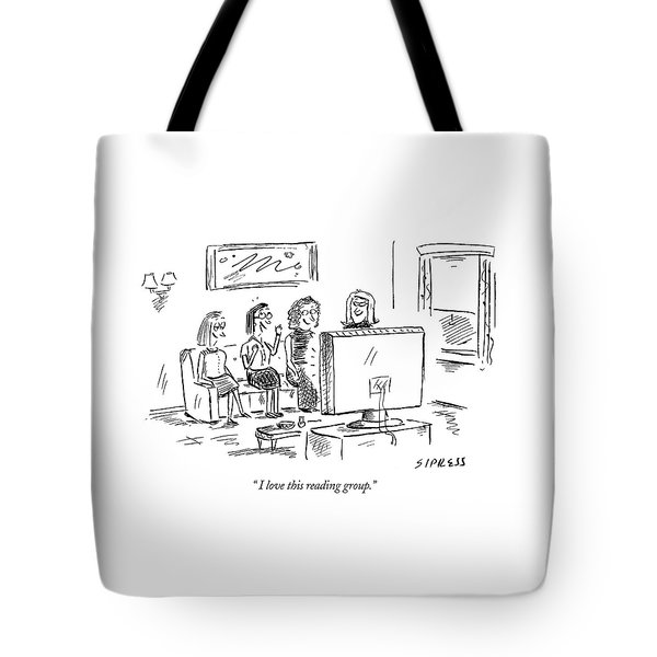 I Love This Reading Group Tote Bag