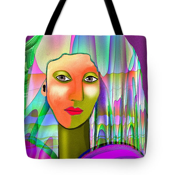 1079 - Mysterious  Lady With A Veil 2017 Tote Bag by Irmgard Schoendorf Welch