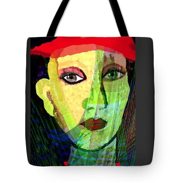 1084 - La  Signora ... Tote Bag by Irmgard Schoendorf Welch