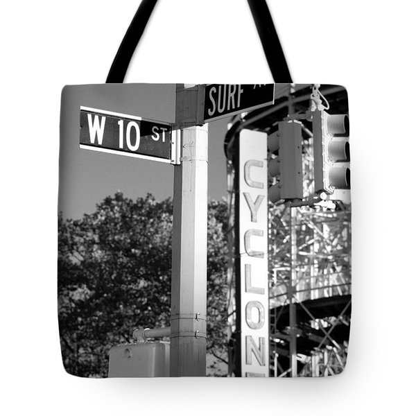 10th And Surf In Black And White Tote Bag