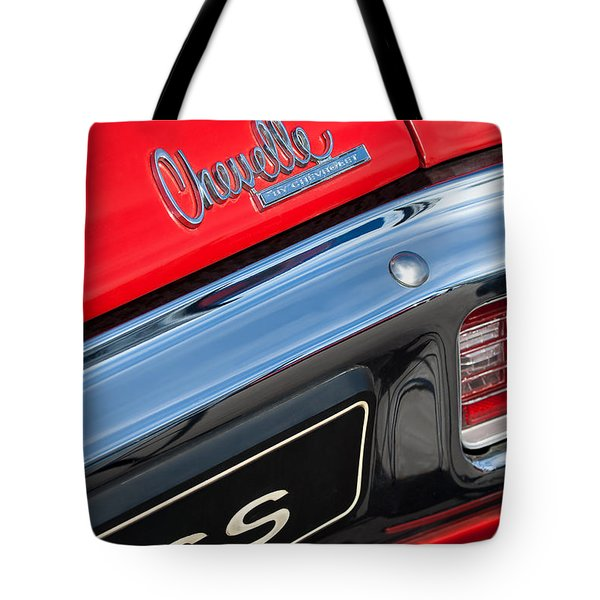 1970 Chevrolet Chevelle Ss Taillight Emblem Tote Bag by Jill Reger