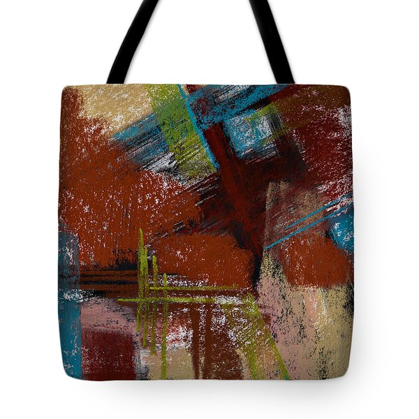 On The Diagonal Tote Bag by Tracy L Teeter
