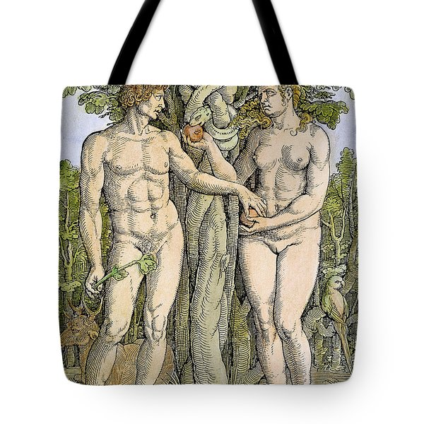 Adam And Eve Tote Bag by Granger