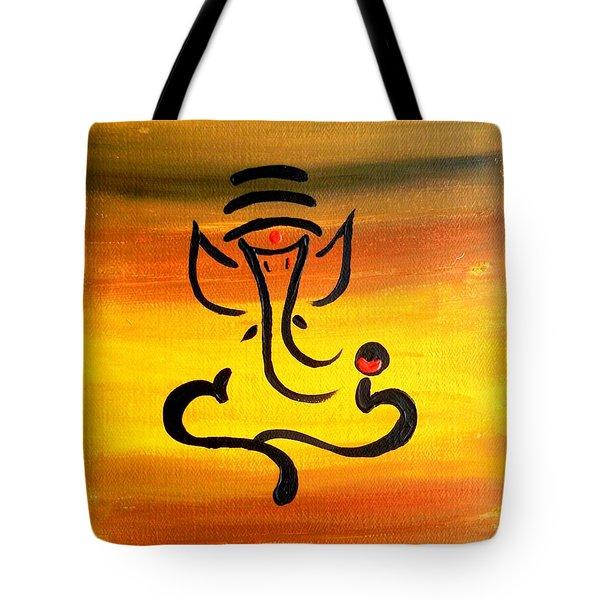 11 Nandana- Son Of Lord Shiva Tote Bag by Kruti Shah