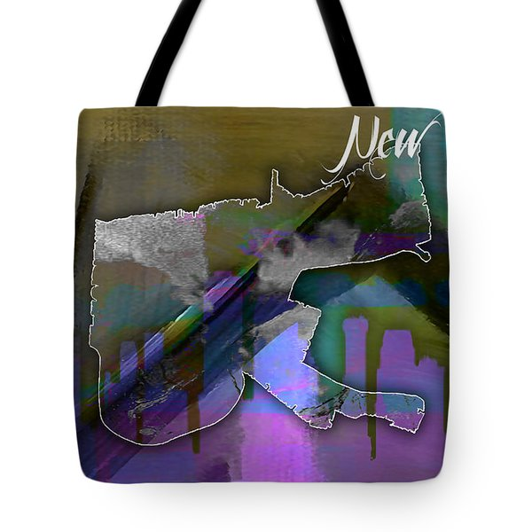 New Orleans Map And Skyline Watercolor Tote Bag