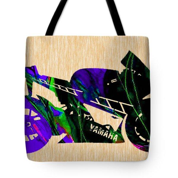 Ninja Motorcycle Tote Bag by Marvin Blaine
