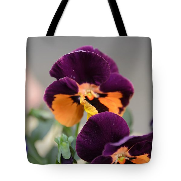 Tote Bag featuring the photograph Viola Tricolor Heartsease by Michael Goyberg