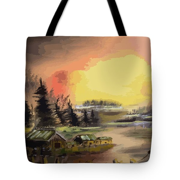 110214fa Fishing Camp Tote Bag