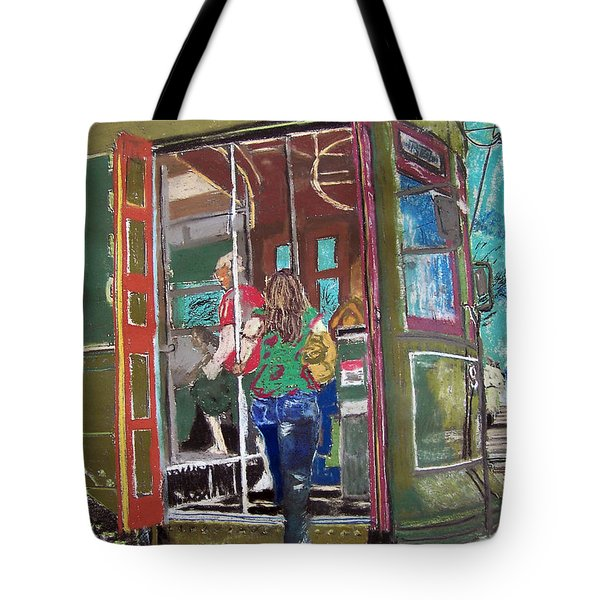 111708 New Orleans Street Car  Tote Bag