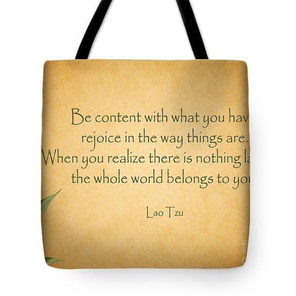 114- Lao Tzu Tote Bag