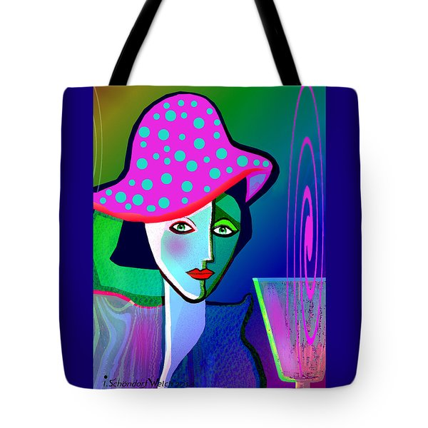 1150 - Woman With Pocodot Hat ... Tote Bag by Irmgard Schoendorf Welch