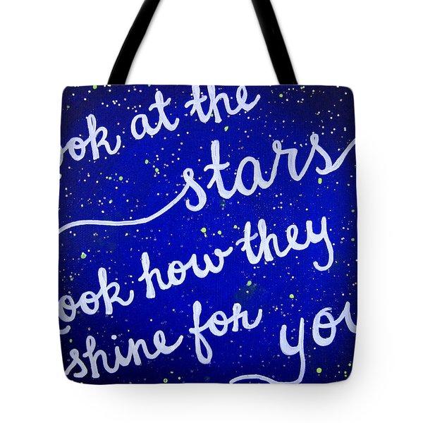 11x14 Look At The Stars Tote Bag