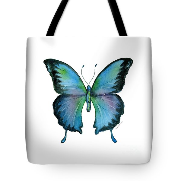 12 Blue Emperor Butterfly Tote Bag