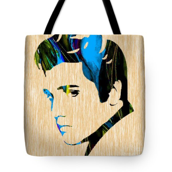 Elvis Tote Bag by Marvin Blaine