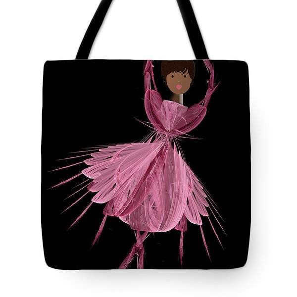 12 Pink Ballerina Tote Bag by Andee Design