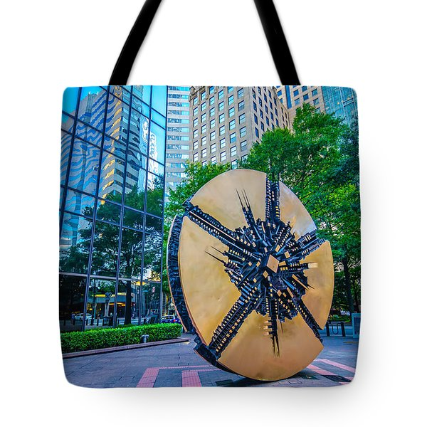 Skyline And City Streets Of Charlotte North Carolina Usa Tote Bag