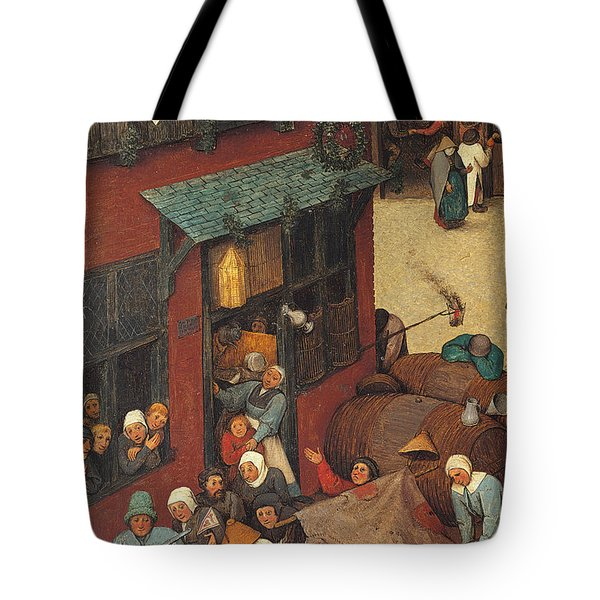The Fight Between Carnival And Lent Tote Bag