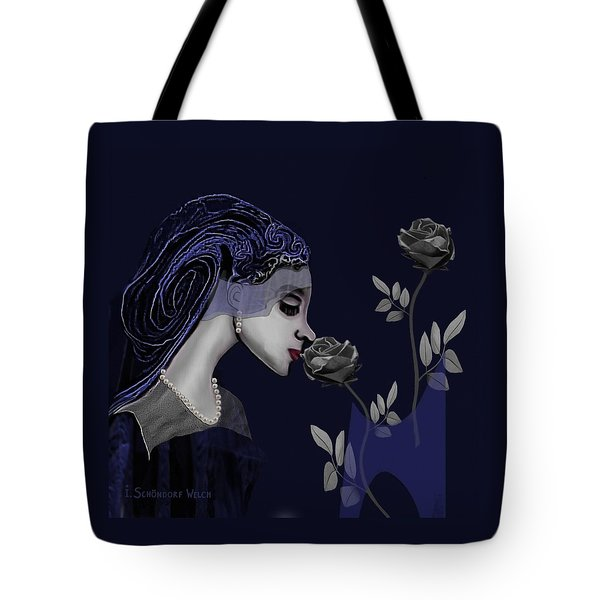 126 - A Young Woman With Roses ... Tote Bag by Irmgard Schoendorf Welch