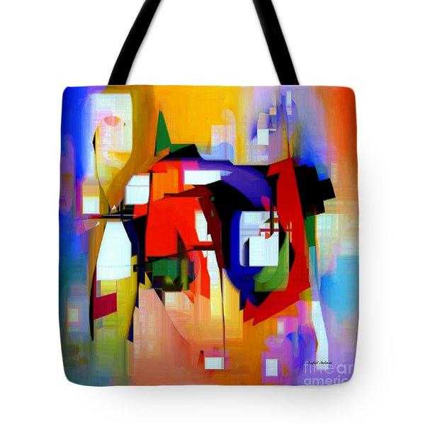 Abstract Series Iv Tote Bag by Rafael Salazar