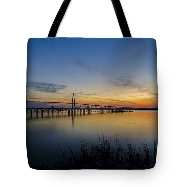 Peacefull Hues Of Orange And Yellow  Tote Bag by Dale Powell