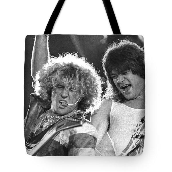 Van Halen - Sammy Hagar With Eddie Van Halen Tote Bag