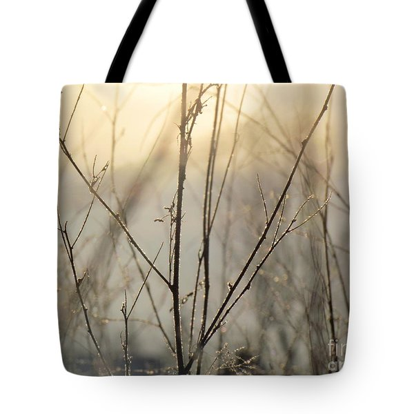 Tote Bag featuring the photograph Wildflowers Winter by France Laliberte