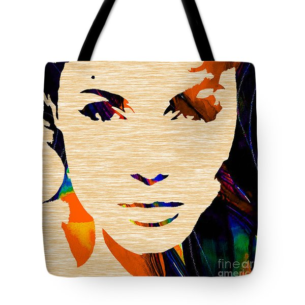 Angelina Jolie Collection Tote Bag by Marvin Blaine