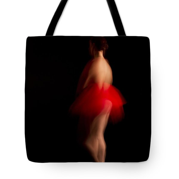 Ballet Dancer In Red Tutu Tote Bag