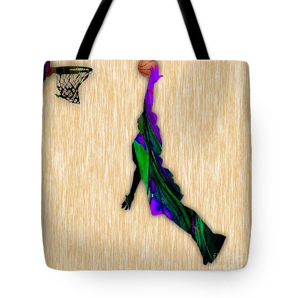 Basketball Tote Bag by Marvin Blaine