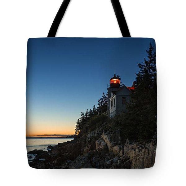 Bass Harbor Lighthouse Tote Bag by John Greim
