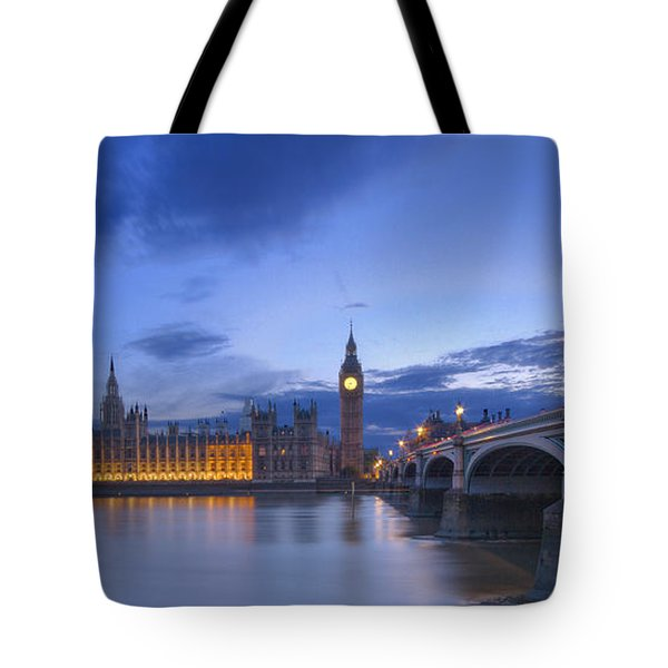 Big Ben And The Houses Of Parliament  Tote Bag by David French