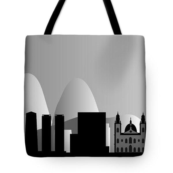 Rio De Janeiro Skyline Tote Bag by Michal Boubin