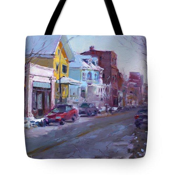 149 Elmwood Ave Savoy Tote Bag by Ylli Haruni