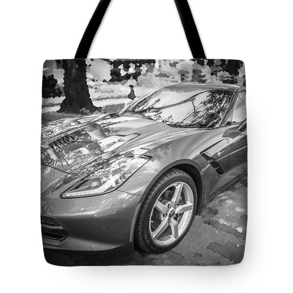 2014 Chevrolet Corvette C7 Bw   Tote Bag by Rich Franco