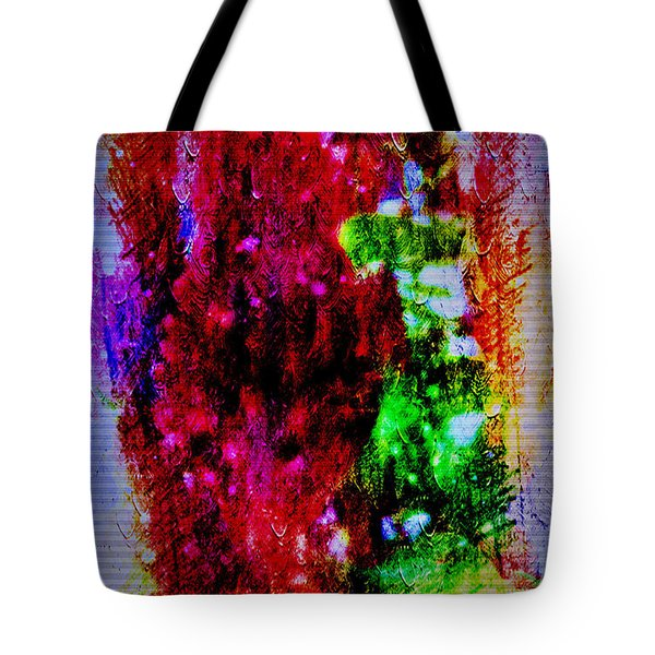 Red Clovers In Abstract Tote Bag