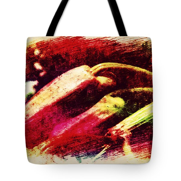 Buds In Abstract Tote Bag