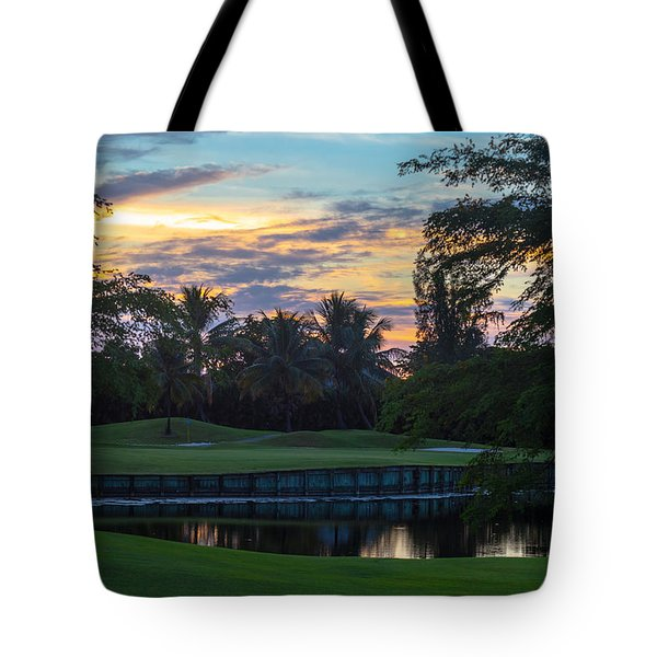 15th Green At Hollybrook Tote Bag