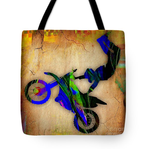 Dirt Bike Tote Bag by Marvin Blaine