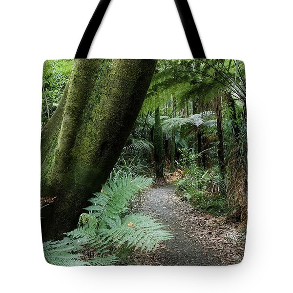 Tropical Forest Tote Bag by Les Cunliffe
